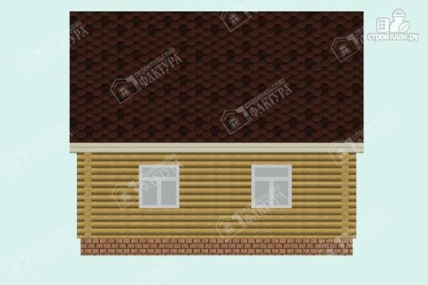 Фото 6: проект двухэтажный дом из оцилиндрованного бревна