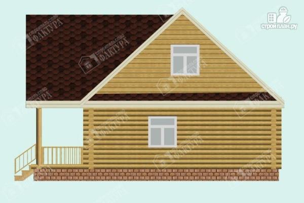Фото 5: проект двухэтажный дом из оцилиндрованного бревна