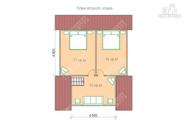 Фото 3: проект двухэтажный дом из оцилиндрованного бревна