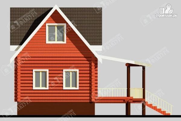 Фото 7: проект дом из бревна с мансардой