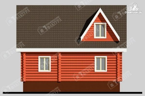 Фото 6: проект дом из бревна с мансардой