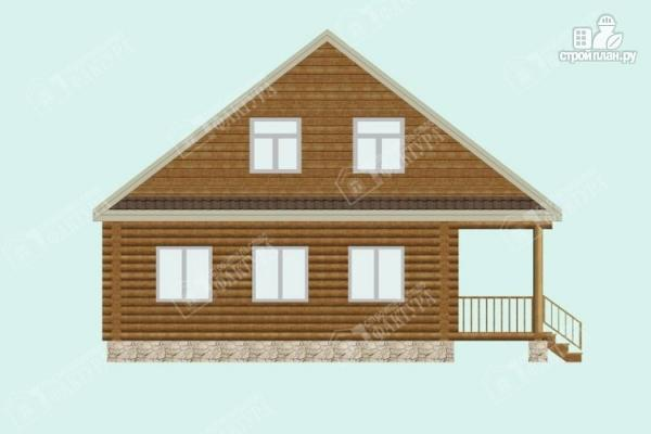Фото 7: проект дом из бревна 9х9