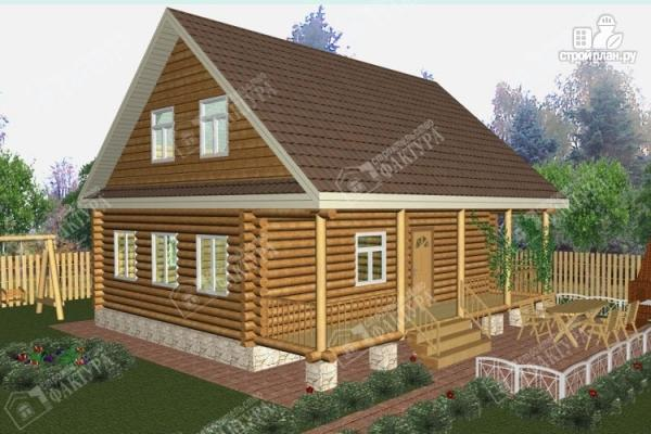 Фото: проект дом из бревна 9х9