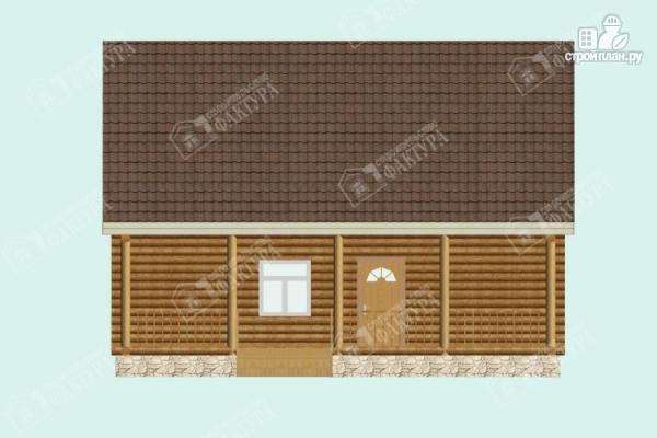 Фото 4: проект дом из бревна 9х9