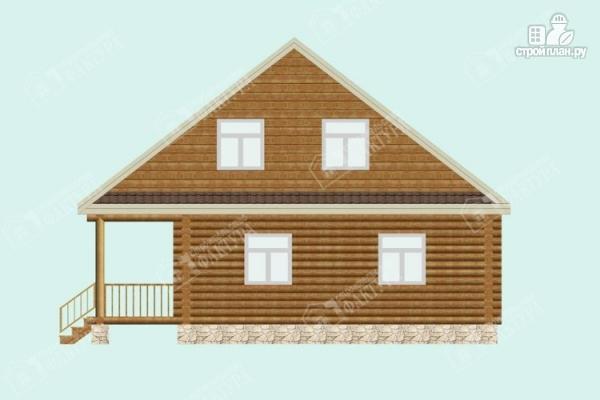 Фото 5: проект дом из бревна 9х9