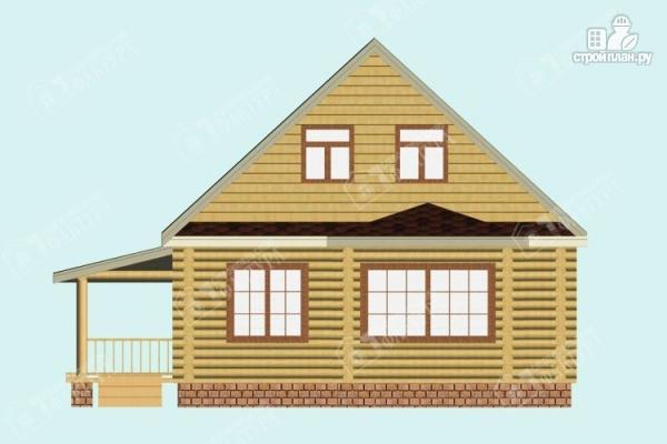 Фото 4: проект дом из бревна с эркером