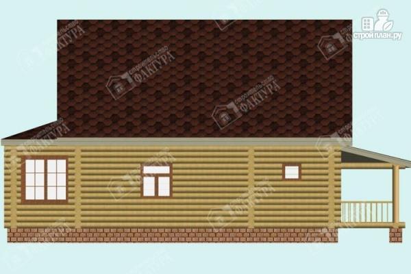 Фото 5: проект дом из бревна с эркером