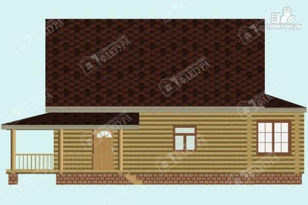 Фото 7: проект дом из бревна с эркером