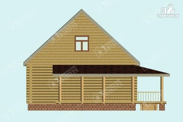 Фото 6: проект дом из бревна с эркером