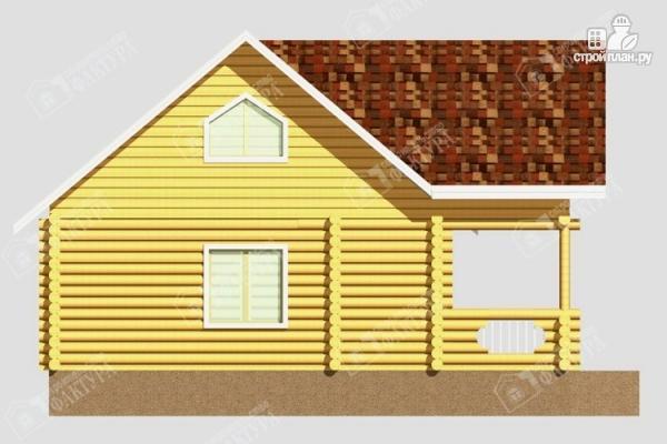 Фото 7: проект дом из бревна с балконом