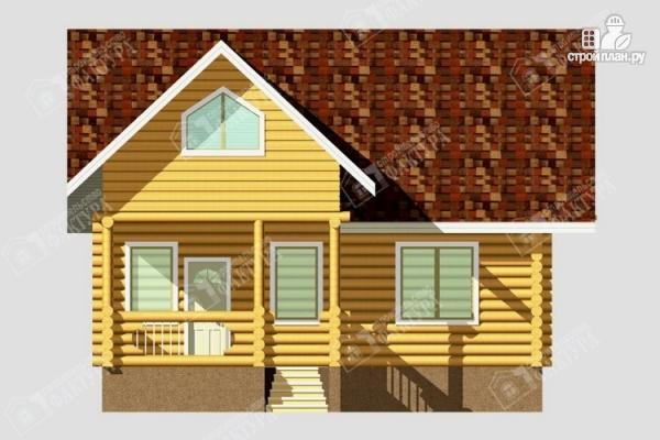 Фото 4: проект дом из бревна с балконом