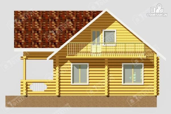 Фото 5: проект дом из бревна с балконом