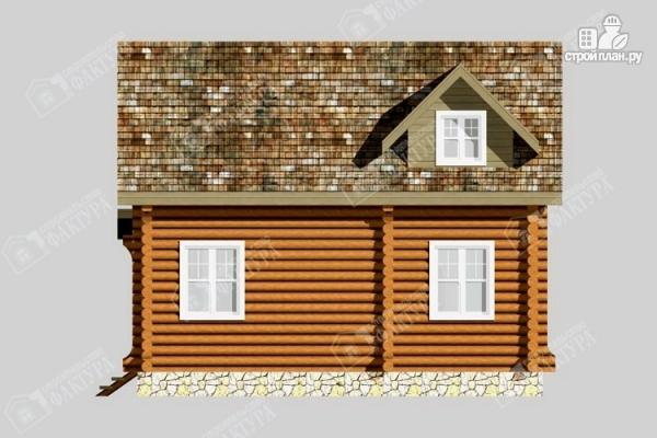 Фото 5: проект бревенчатый дом для комфортного отдыха