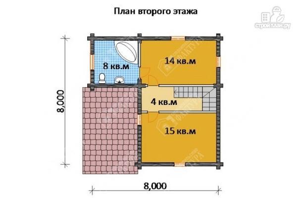 Фото 3: проект бревенчатый дом для комфортного отдыха