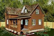 Проект бревенчатый дом для комфортного отдыха