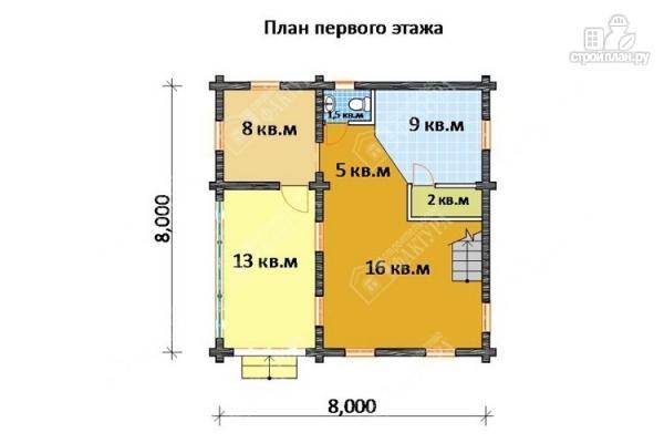 Фото 2: проект бревенчатый дом для комфортного отдыха