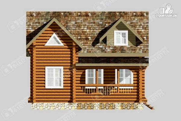 Фото 7: проект бревенчатый дом для комфортного отдыха