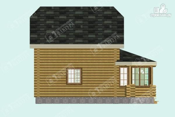 Фото 7: проект дом из бревна с застекленной верандой