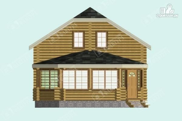 Фото 4: проект дом из бревна с застекленной верандой