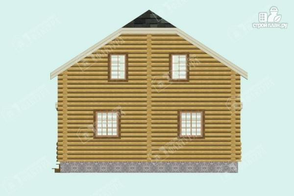 Фото 6: проект дом из бревна с застекленной верандой