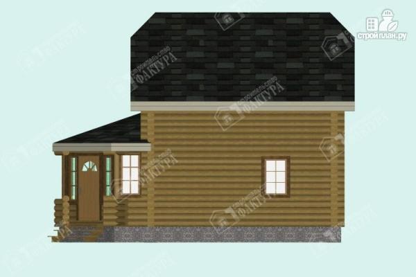 Фото 5: проект дом из бревна с застекленной верандой