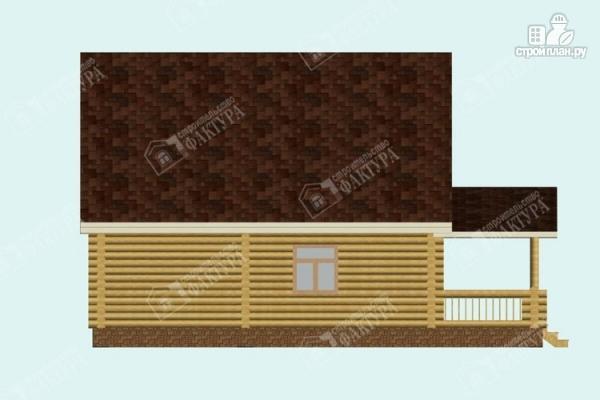 Фото 7: проект дом из бревна с пятью спальнями