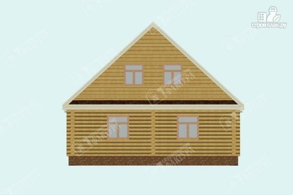Фото 6: проект дом из бревна с пятью спальнями