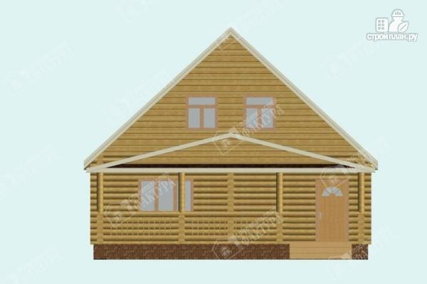 Фото 4: проект дом из бревна с пятью спальнями
