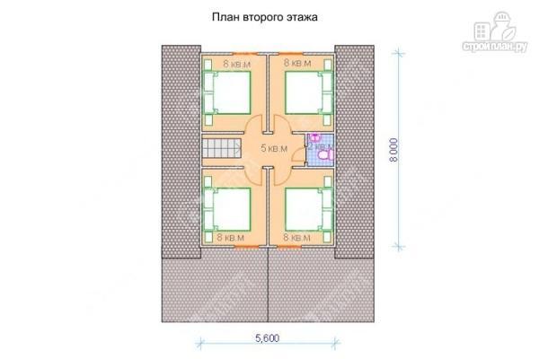 Фото 3: проект дом из бревна с пятью спальнями