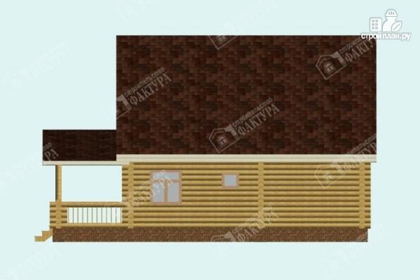 Фото 5: проект дом из бревна с пятью спальнями