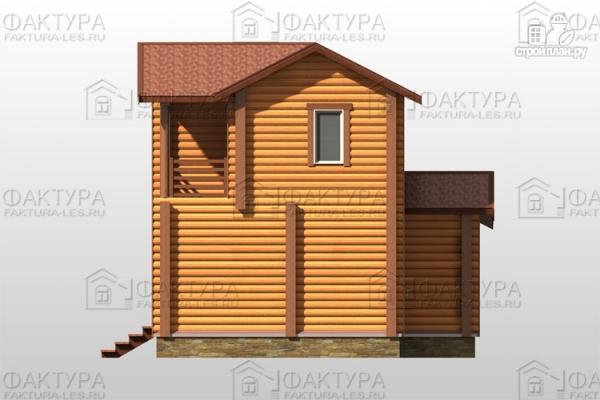 Фото 5: проект двухэтажный дом из бревна без мансарды