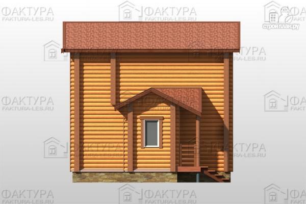 Фото 6: проект двухэтажный дом из бревна без мансарды