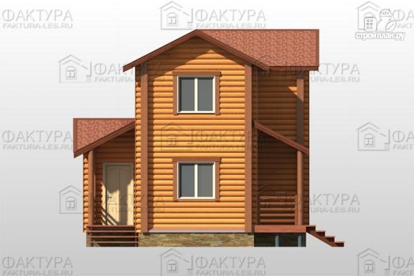 Фото 7: проект двухэтажный дом из бревна без мансарды