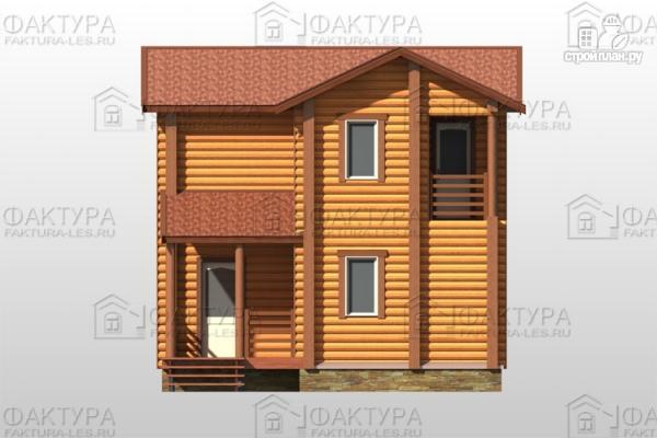 Фото 4: проект двухэтажный дом из бревна без мансарды