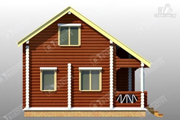 Фото 7: проект дом из оцилиндрованного бревна 220 мм