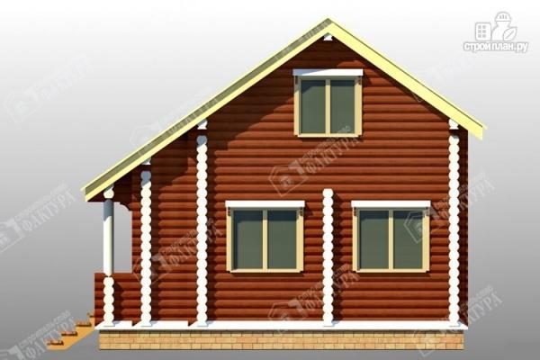 Фото 5: проект дом из оцилиндрованного бревна 220 мм