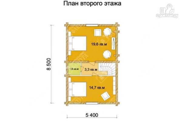 Фото 3: проект дом из оцилиндрованного бревна 220 мм