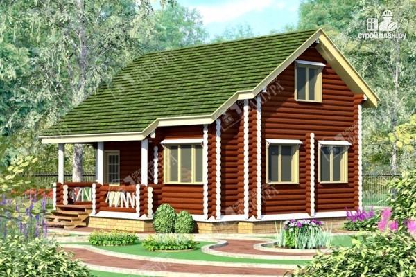 Фото: проект дом из оцилиндрованного бревна 220 мм