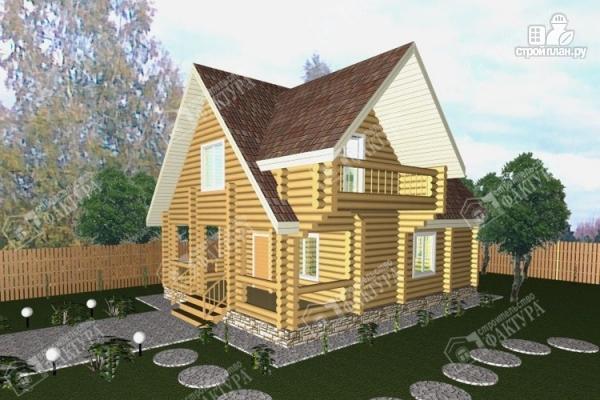 Фото: проект бревенчатый дом 7х10