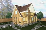 Проект бревенчатый дом 7х10