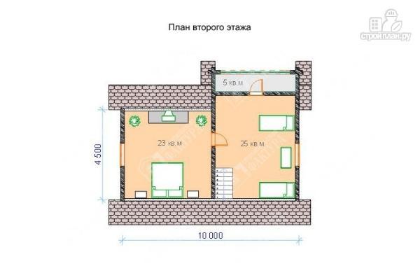 Фото 3: проект бревенчатый дом 7х10