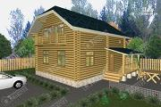 Проект дом из бревна 9х9