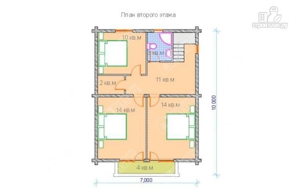 Фото 3: проект дом из бревна 9х9