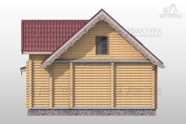 Фото 6: проект дом из бревна с мансардными окнами