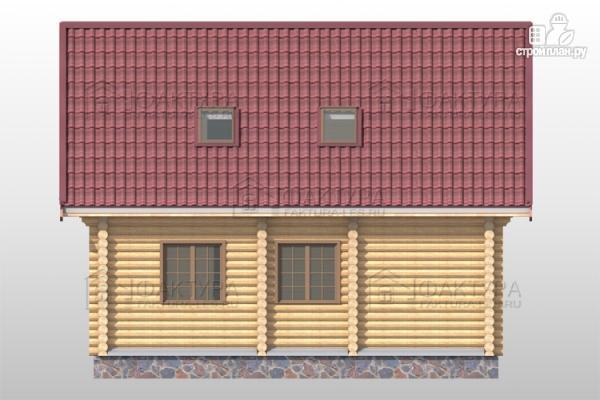 Фото 7: проект дом из бревна с мансардными окнами