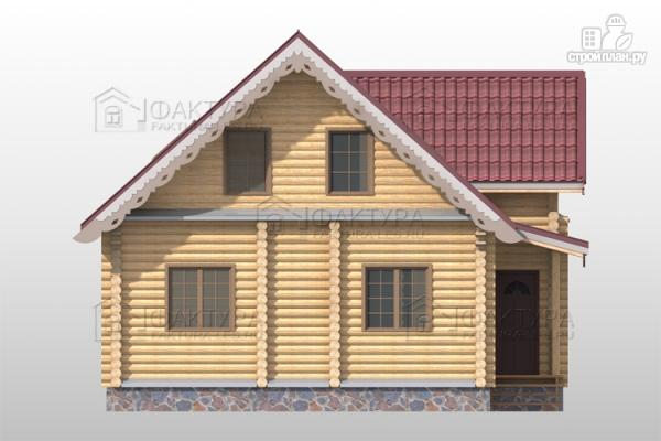 Фото 4: проект дом из бревна с мансардными окнами