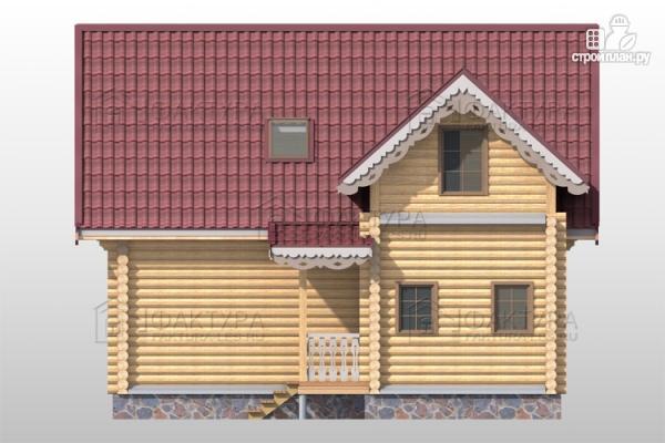 Фото 5: проект дом из бревна с мансардными окнами