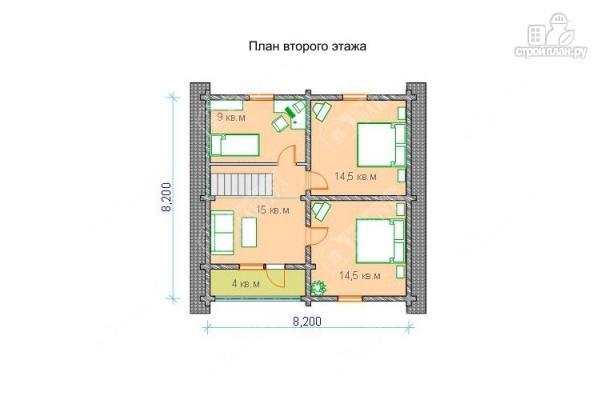 Фото 3: проект бревенчатый дом с балконом