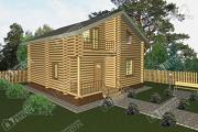 Фото: бревенчатый дом с балконом
