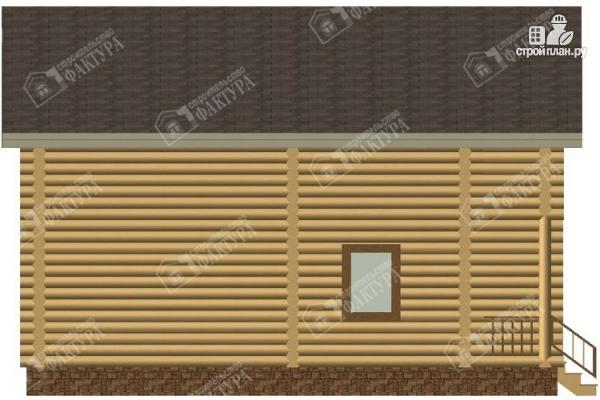 Фото 7: проект бревенчатый дом с балконом
